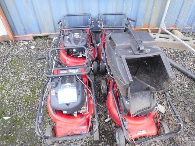 ROVER REGAL 6SDE WALKALONG MOWER x4 PLUS 1 BASKET